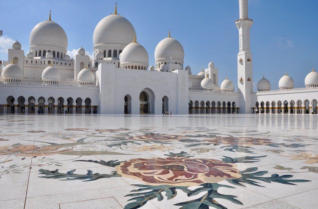La superbe Grande Mosquée Sheikh Zayed à Abu Dhabi